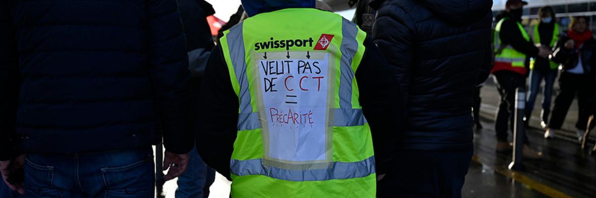 Solidarité avec les salarié-e-s en lutte de Swissport